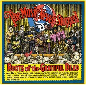 "Capa de ""Roots of the Grateful Dead"", de 1995, do Greatful Dead"