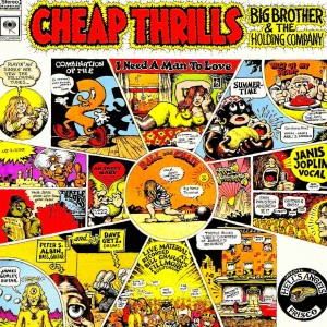 A capa de Chip Trills, da Big Brother and the Holding Company, com Janis Joplin