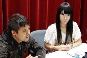 Tsubasa Imamura e Robert Regonati no momento da entrevista. Foto: Rafael Gushiken/Renan Nunes