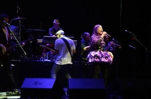 Baby durante show em São Paulo.