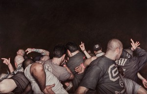 "Agnostic Front 2014, 48"" x 76"" oil on canvas."